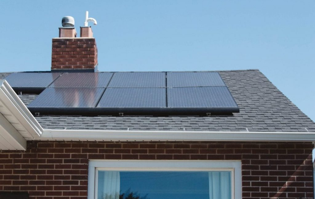 Installation of Solar Panels on the Roof of the House